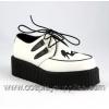 Creeper-430 White/Black Leather